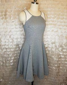 Club Monaco Grey Fit & flare scuba stretchy dress